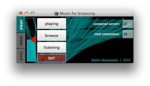 Music for browsing, an Interactive generative soundscape (audio internet art)